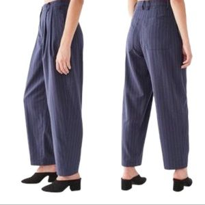 Urban Outfitters Navy Blue Pin Stripe Baggy Pants